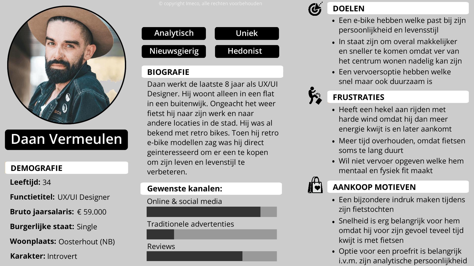 Ontmoet deze buyer persona Daan, een UX/UI designer uit Oosterhout