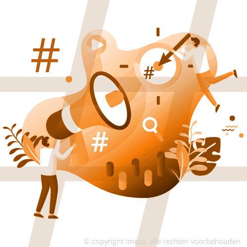 Onderzoek welke hashtags relevant zijn t.o.v. uw publiek en doelstelling