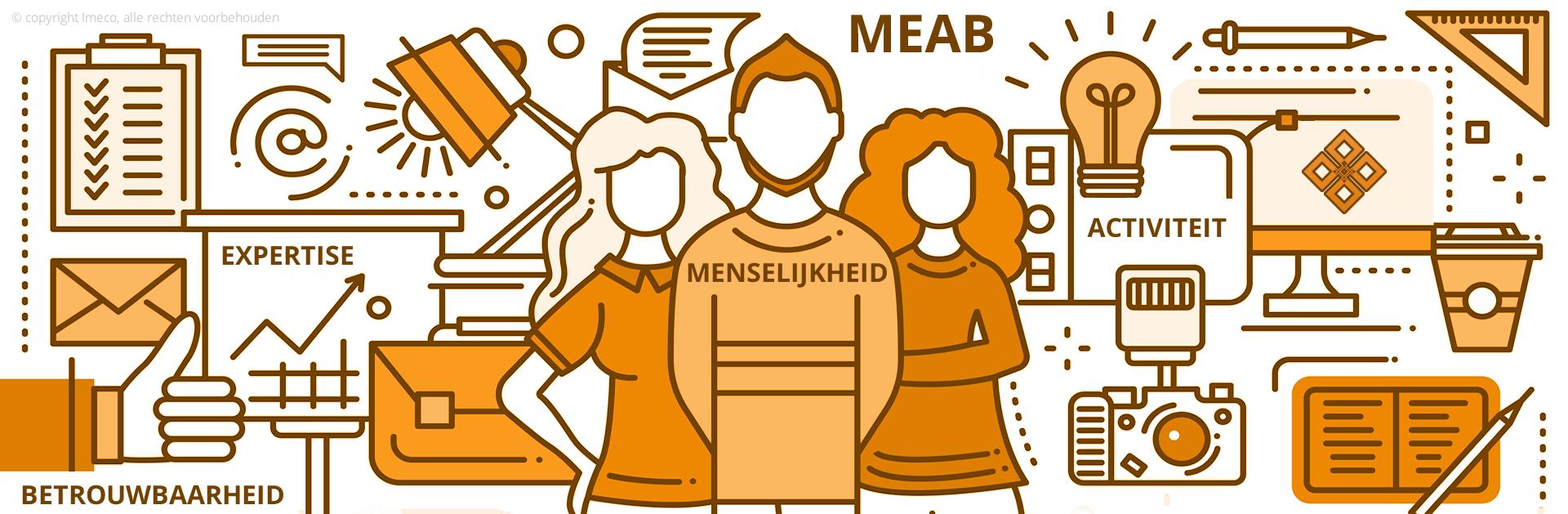 MEAB = Menselijkheid, Expertise, Activiteit, Betrouwbaarheid