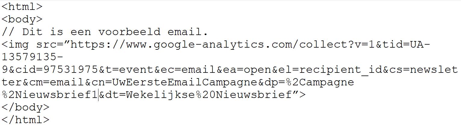 Voorbeeld workaround afbeelding tag url invoegen in Gmail