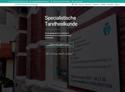 Medische WordPress website voor tandheelkunde keten