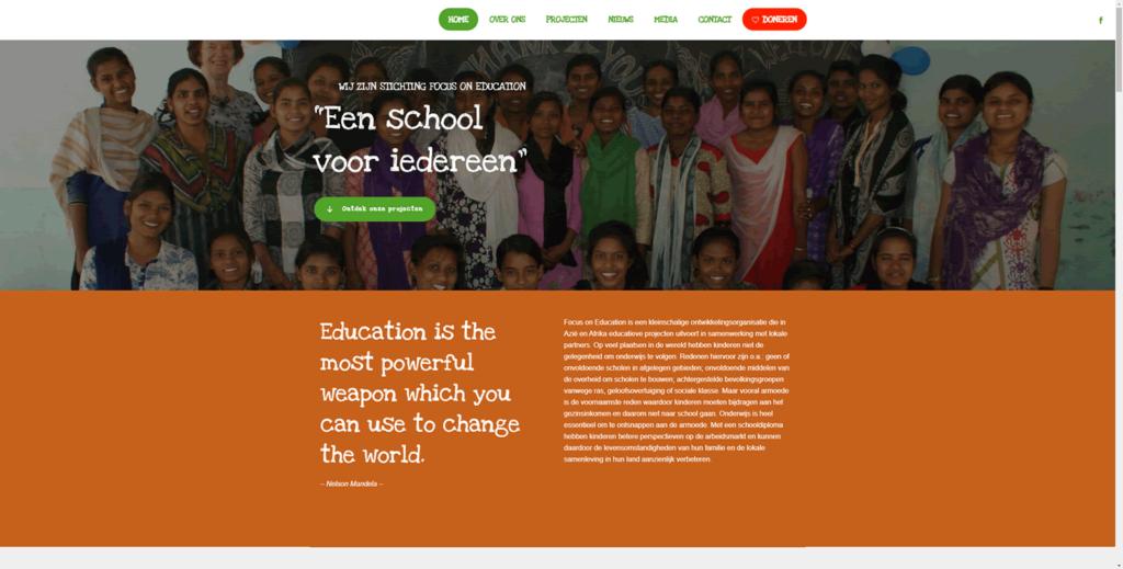 Voorbeeld online donatie opties